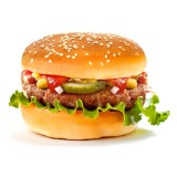 Бургер с курицей, , 3,59 руб., Бургер с курицей, , Закуски