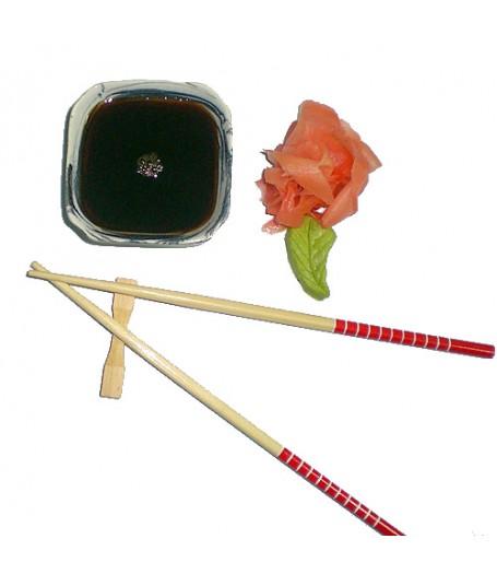 КОМПЛЕКС (соевый соус, васаби, имбирь, палочки для суши)